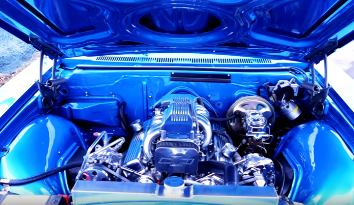 blue 1966 chevrolet caprice hot rod