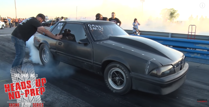 beater bomb fox body mustang drag racing