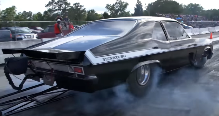 sprayed chevy yenko nova drag racing