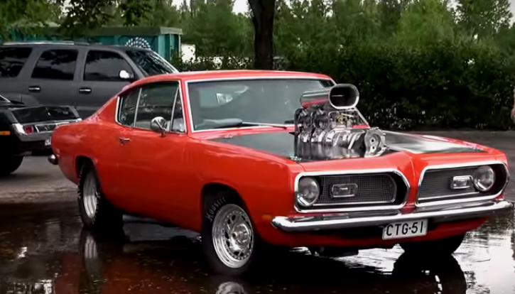 blown 1969 plymouth barracuds