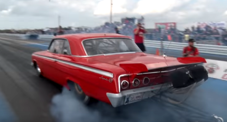 twin turbocharged chevrolet impala big block drag racing