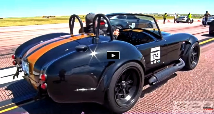supercharged coyote ac cobra drag racing