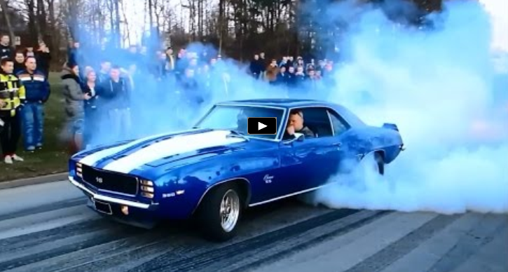 big block 1969 chevrolet camaro burnout