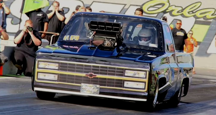 miss misery chevy truck drag racing