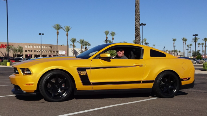 yellow blaze 2012 ford mustang boss 302
