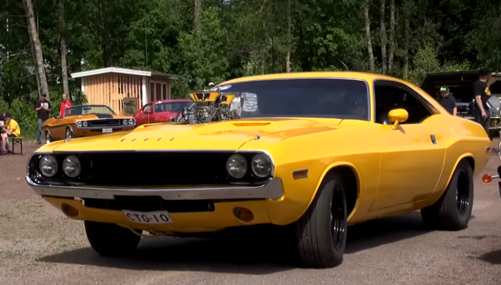 1970 dodge challenger burnout