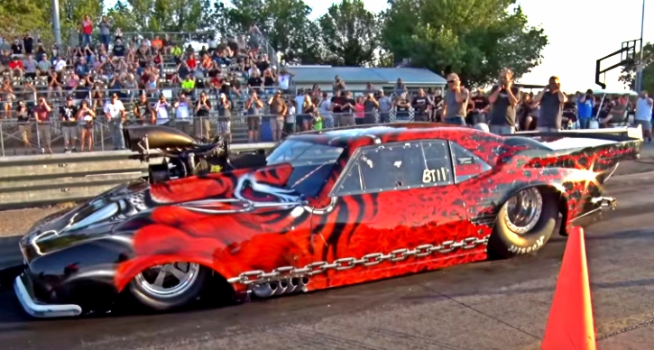 blown 1968 camaro drag racing