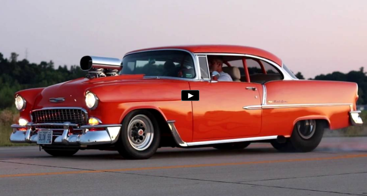 blown 1955 chevy bel air hot rod