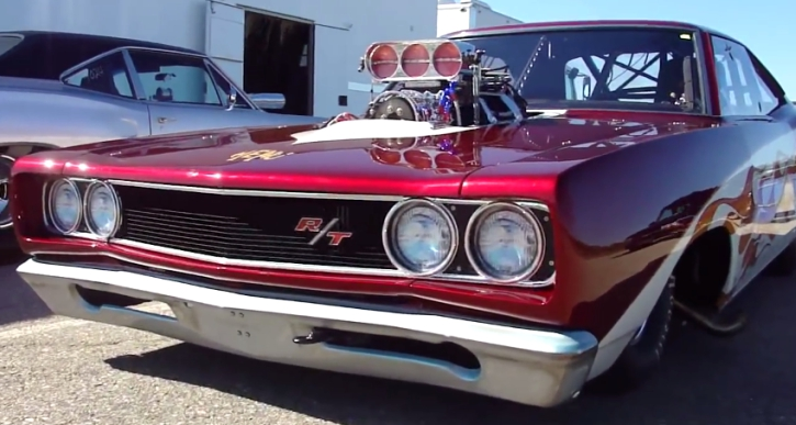 supercharged 1968 dodge coronet r/t drag car