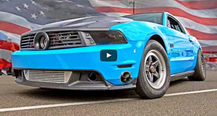 1400hp turbocharged mustang drag racing