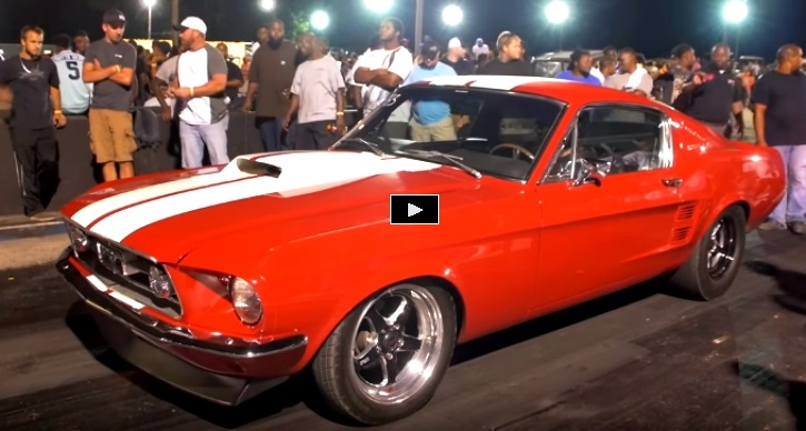 big block ford powered mustang drag racing