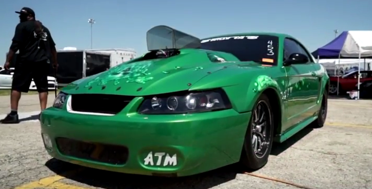 crazy legs chad drag racing mustang