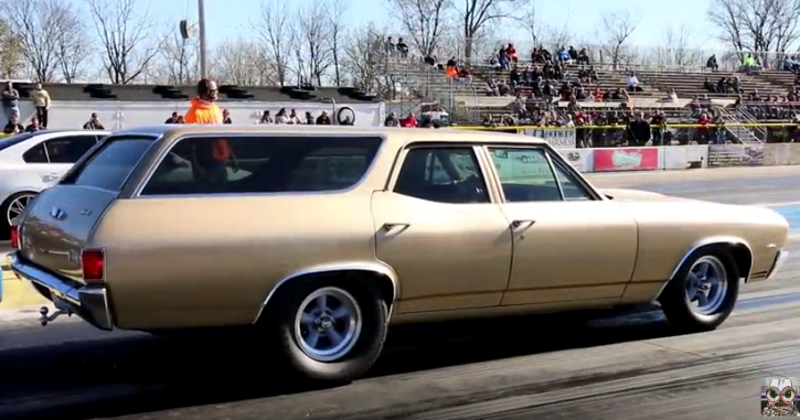 1970 chevy chevelle wagon drag racing