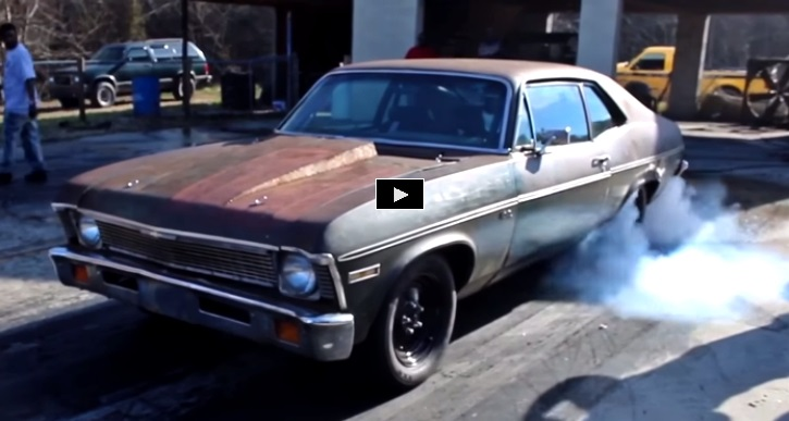 twin turbo chevy nova drag racing