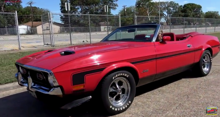 bright red 1971 ford mustang 302 automatic
