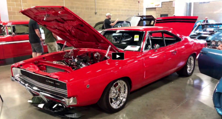 viper red 1968 dodge charger show car