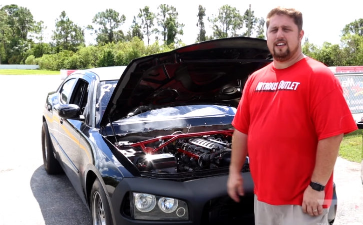 nitrous 2007 dodge charger 440 drag racing