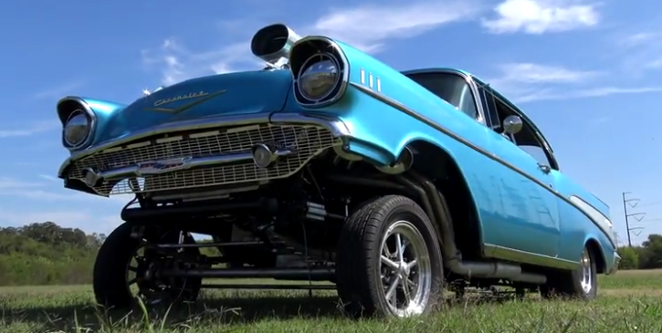 blown 1957 chevrolet belair gasser