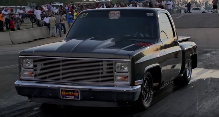 big block chevy c10 truck drag racing