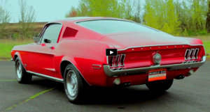 red on red 1968 mustang fastback