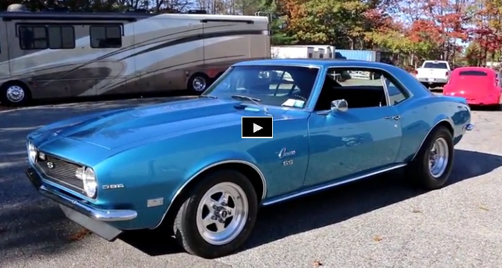 restored 1968 chevy camaro ss 5 speed