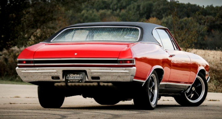bright red 1968 chevy chevelle super sport