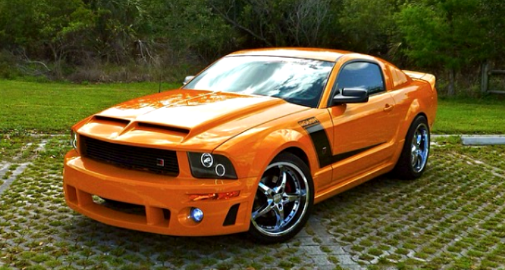 grabber orange roush mustang video