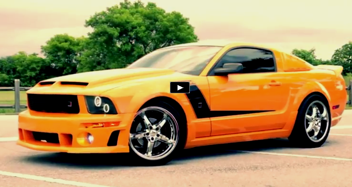 custom 2007 roush mustang gt video