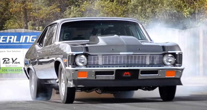twin turbo chevy nova LT4 drag racing
