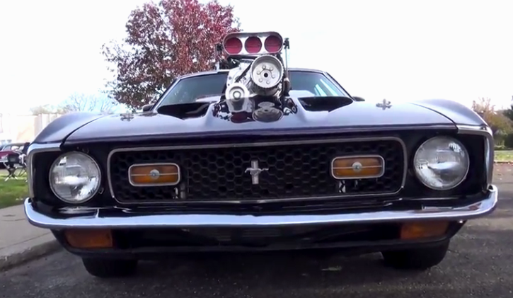 blown ford mustang mach 1 video