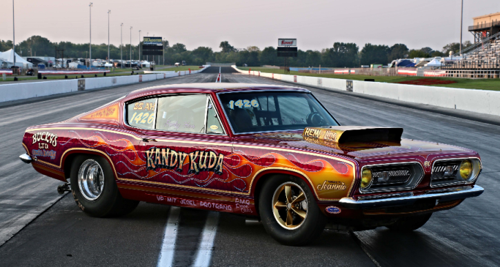 plymouth kandy kuda barracuda drag racing
