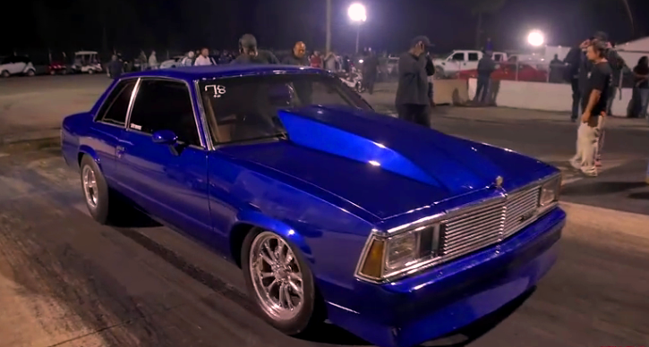 sprayed g body chevy malibu drag racing