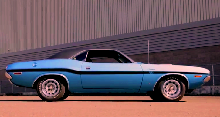 b5 blue 1970 dodge hemi challenger collector car