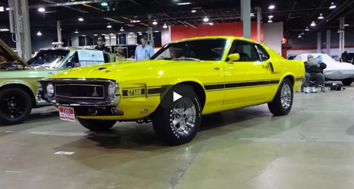rare grabber yellow 1969 shelby gt500