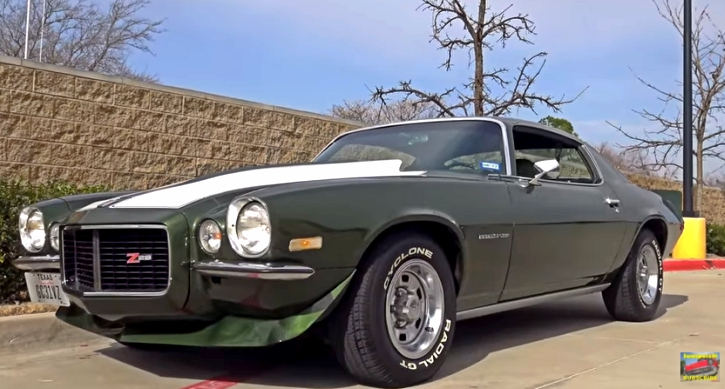 test driving 1970 chevrolet camaro rs