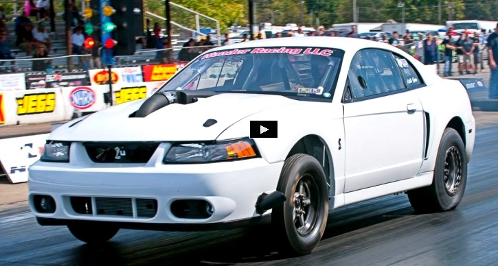 twin turbo cobra mustang drag racing