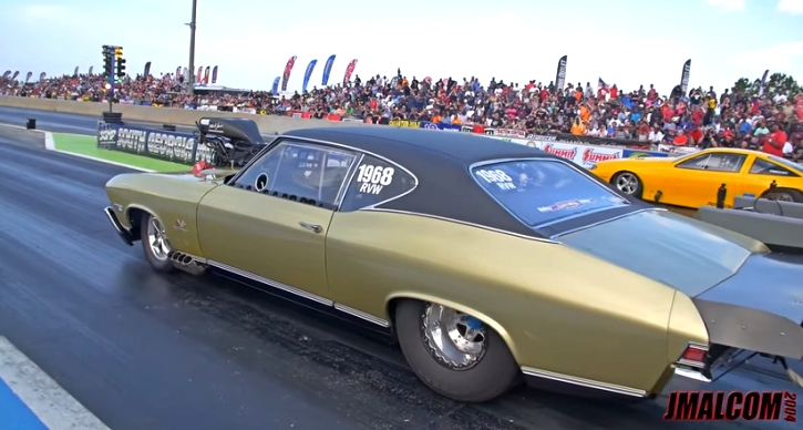 blown chevy chevelle drag racing