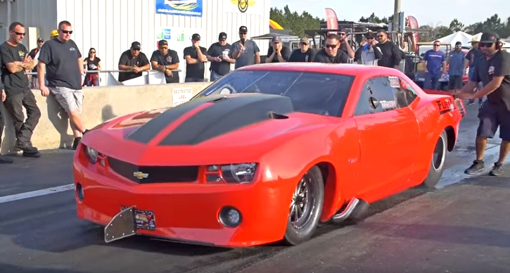 ryan martin twin turbo camaro drag racing