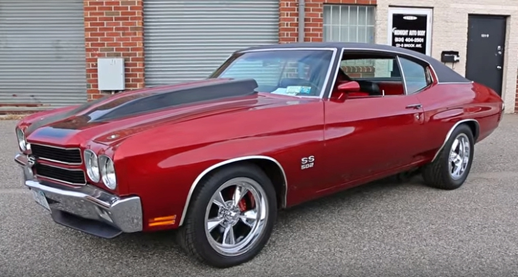 maroon red 1970 chevy chevelle ss 502