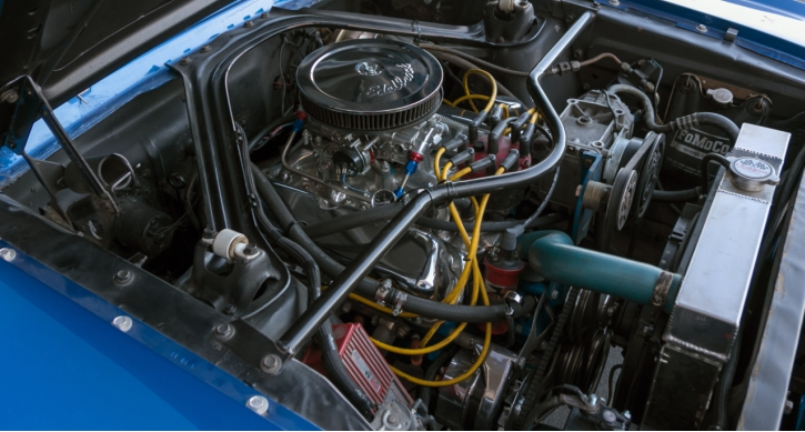 blue 1966 ford mustang coupe