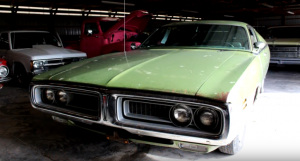 green on green 1971 dodge charger 318