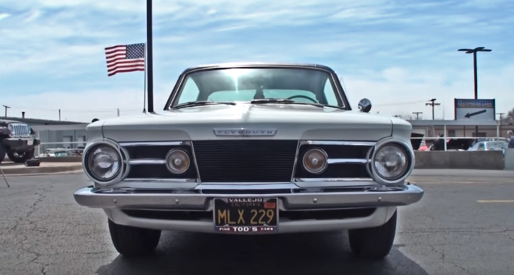 ivory white 1965 plymouth barracuda 273 commando