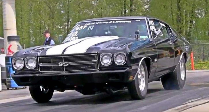 wheelstanding 1970 chevy chevelle ss