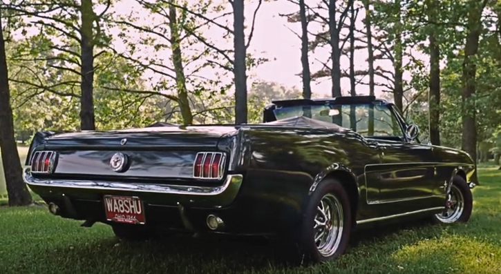 original ivy green 1966 mustang convertible