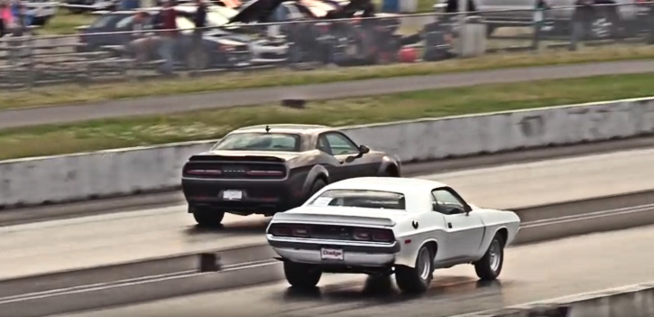 1972 dodge challenger vs 2018 dodge demon