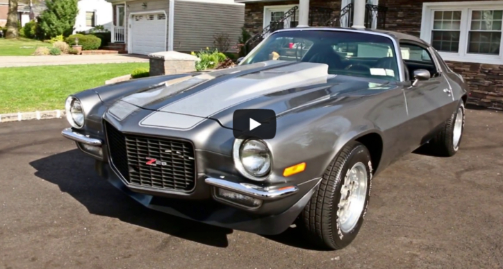 1973 chevy camaro frame off restoration