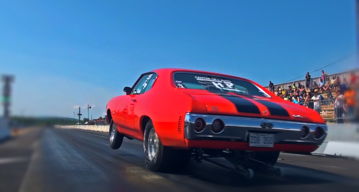 chevy chevelle drag racing wheelie