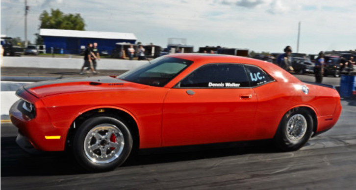 dennis walker dodge challenger srt8 drag racing