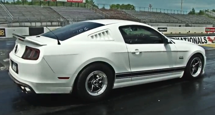 roush superchatrged mustang 5.0 drag racing