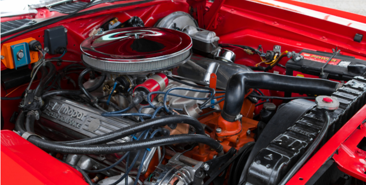 red 1973 plymouth cuda restored